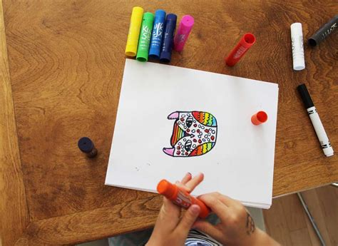 rainbow owls drawing  painting lesson  kwik stix
