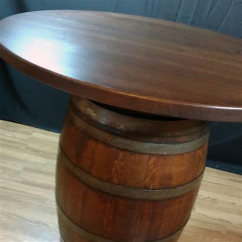 wine barrel wood top bistro table  oak barrel company