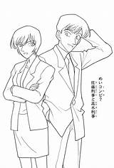 Detective Coloring Template تلوين Conan Pages انمي Badge Police sketch template