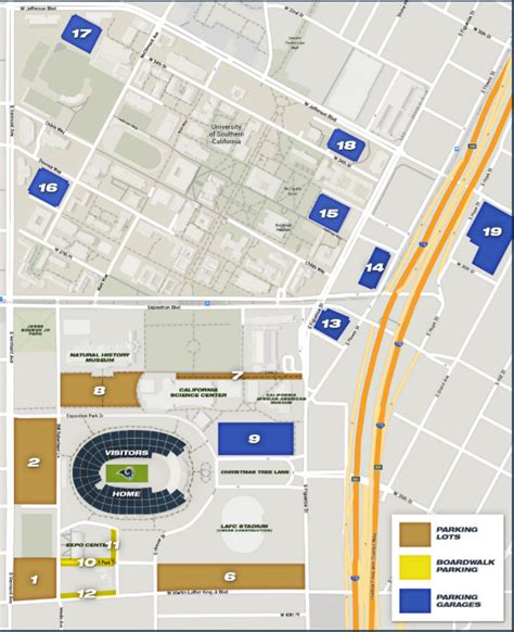 Rams Parking Deck Pass by Los Angeles Memorial Coliseum Parking Stadium Parking Guides
