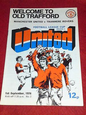 programme league cup manchester utd  tranmere rovers