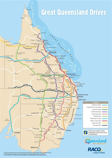 queensland drive map outback queensland