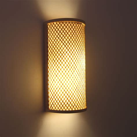wall mounted hallway light fixtures japanese style hand knitted bamboo bedside wall l