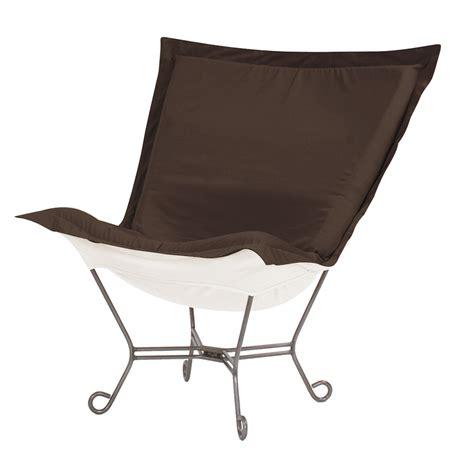 howard elliott puff chair sunbrella seascape chocolate
