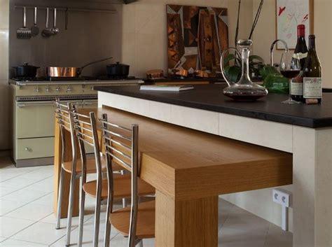 table de cuisine retractable 8 bonnes raisons d 39 aménager un bar dans la cuisine