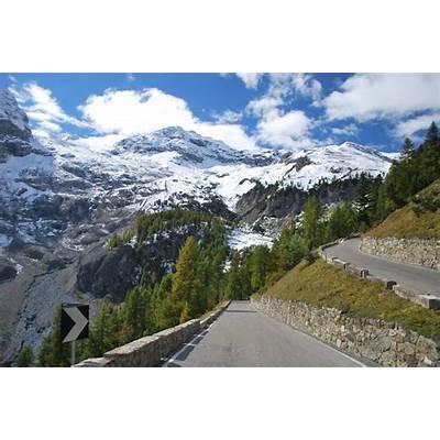 Stelvio Pass - Italy Tire on Road