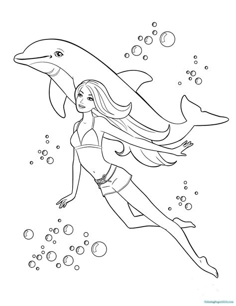 Barbie Mermaid Coloring Pages Coloring Pages For Kids