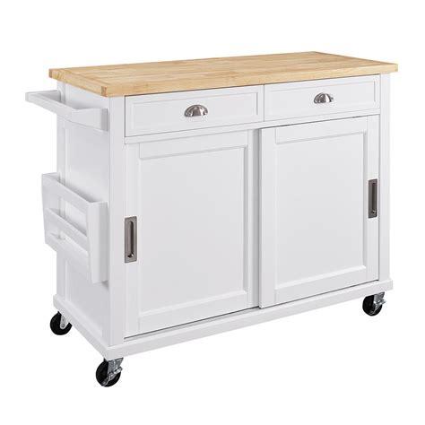 kitchen trolley ideas linon home decor sherman white kitchen cart with storage