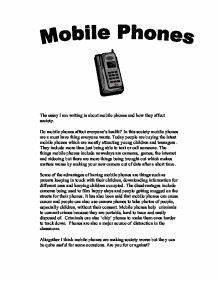 essay on mobile phone in hindi language