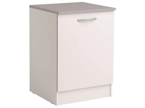 meuble bas 60 cm 1 porte spoon coloris blanc vente de