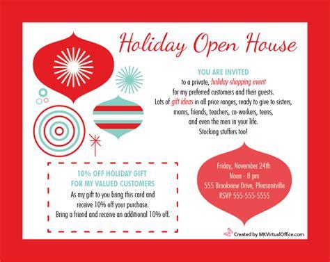 Mary Kay Holiday Invitations