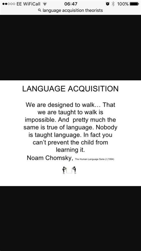 chomsky language acquisition quote language acquisition