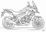 Motorcycle Coloring Racing Printable Honda Coloringonly sketch template