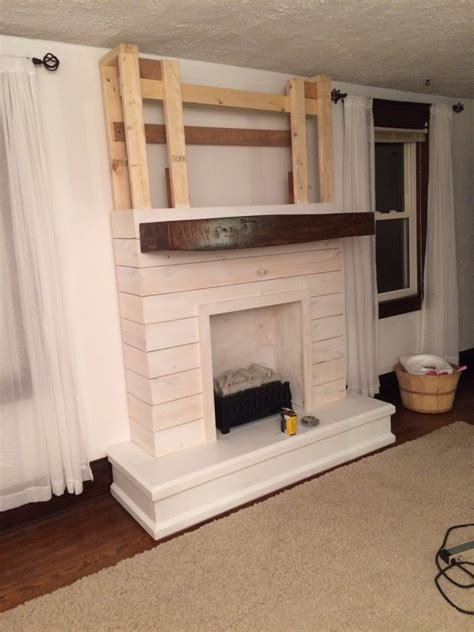 Shiplap Fireplace by Diy Shiplap Fireplace The Definery Co