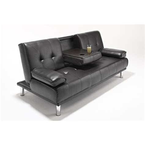 leather futon sofa bed 3 seat faux leather tufted westminster futon sofa bed in