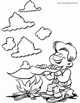 Scouting Coloring Pages Scouts Scout Boy Jobs Cub Printable Kleurplaten Smoke Sheets Signals Fun Kleurplaat Making Sheet Found Boys sketch template