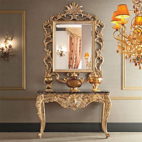 ornate italian gold console  mirror set cihan zirek