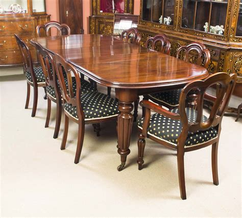 antique mahogany dining table 8 chairs c1870