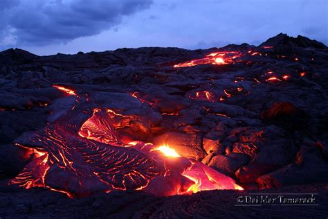 capturing the moment lava flowing into the ocean big