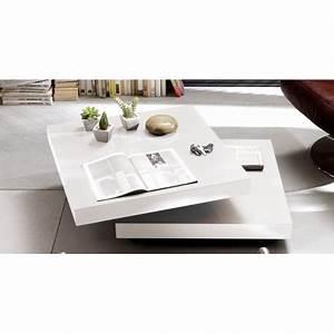 Table Basse Carrée Blanc Laqué : table basse carr e blanc laqu cbc meubles ~ Teatrodelosmanantiales.com Idées de Décoration