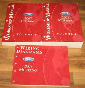 2007 Ford Mustang Service  U0026 Wiring Diagrams Manual Set Shelby Gt500 Gt350