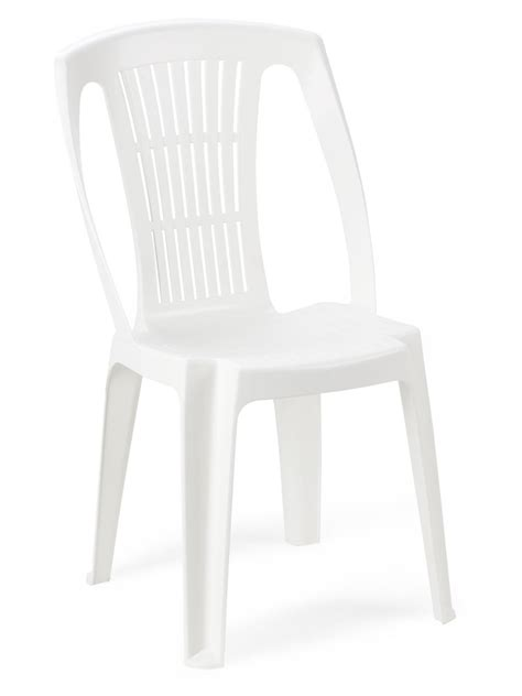Chaise Jardin Plastique Blanche Cater Empilable Hoob
