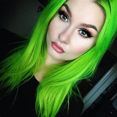 Pin By Lunar Tides Hair On Lime Hair Neon Green Hair