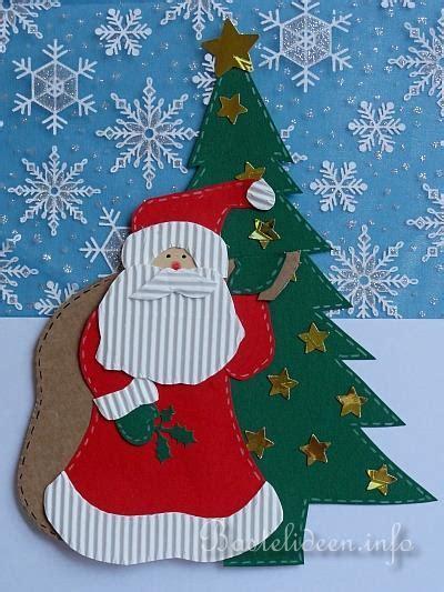 Fensterbilder Zum Basteln Für Weihnachten by Basteln Mit Papier Weihnachten Nikolaus Mit Sack