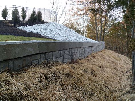 solid concrete retaining wall retaining walls and walk out basement details custom homes by tompkins construction