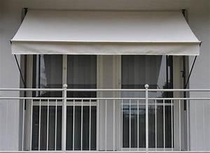 klemm markise stoff xq76 hitoiro With markise balkon mit tapete beige uni