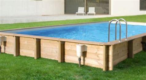 rechteck pool komplettset pool rechteckig holz wohn design