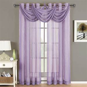 abri grommet crushed sheer curtain panel With sheer lavender curtains