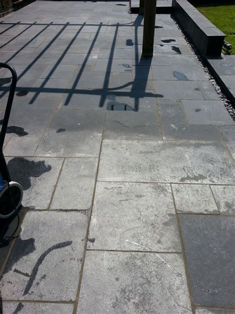 cleaning and sealing a limestone patio cleaning