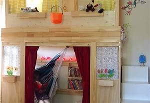 Lit Cabane Mezzanine : lit superpos mydal transform en lit cabane ~ Melissatoandfro.com Idées de Décoration