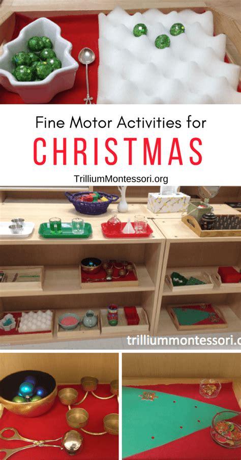 december motor shelf trillium montessori 281   December Fine Motor Shelf