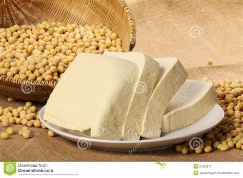 tofu  soy beans stock photo image