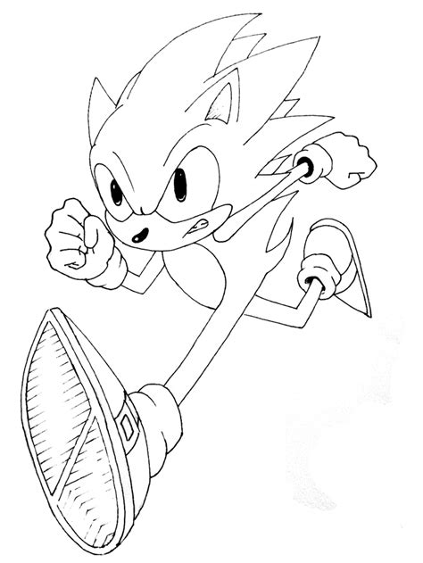 sonic coloring pages   cool funny
