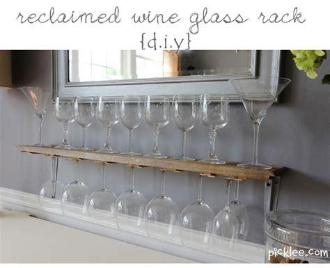 diy wine glass rack reclaimed wine glass rack diy picklee
