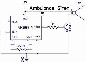 Siren Generator Using Ic Um3561
