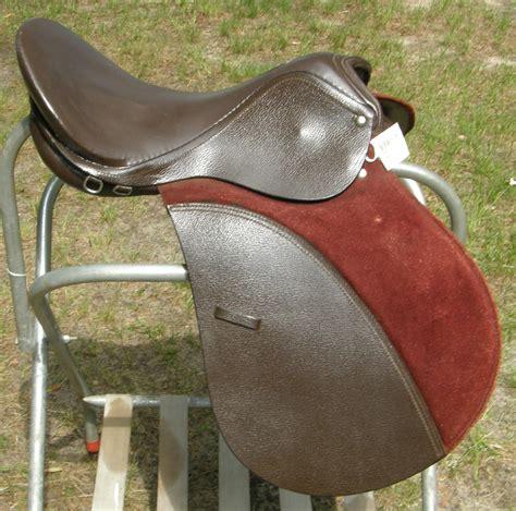 english saddle jumping purpose general platoon saddles seat knee rolls attaching suede