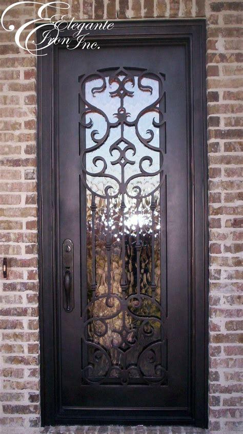 custom iron doors custom wrought iron front door single doors