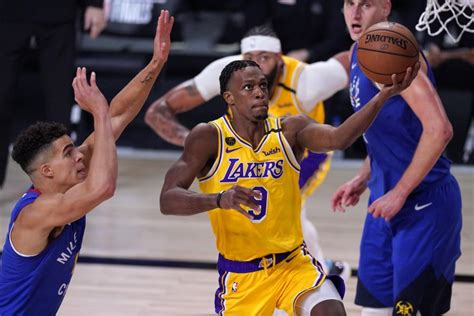 Column: Lakers get boost from Rajon Rondo's playoff ...