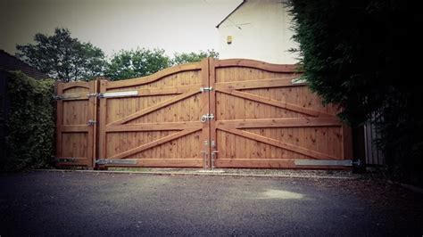 wooden driveway gates village gates