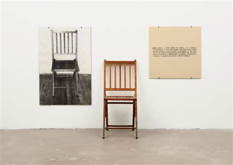 one and three chairs 1965 joseph kosuth wikiart org