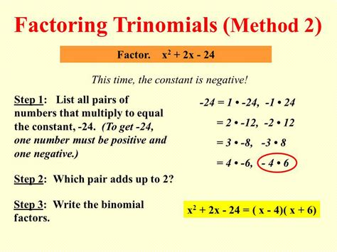 Factoring Trinomials  Ppt Download