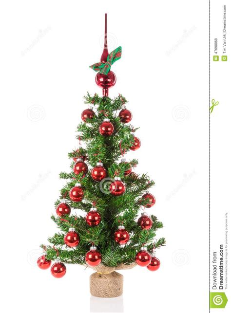 decorated christmas tree with peak balls over a white background stock illustration image