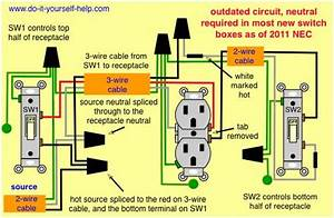 Wiring Diagram For Two Switches To Control One Receptacle