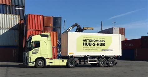 volvo group trucks technology volvo unveils self driving hub to hub truck waste360