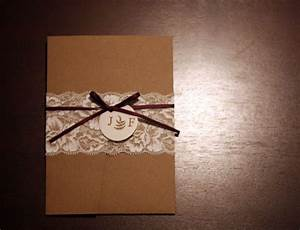 our diy lace wedding invitations weddingbee photo gallery With wedding invitation ribbon belly band diy
