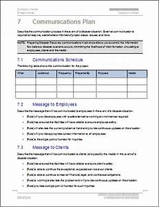 Business continuity plan template 48 page word 12 excel for Disaster recovery communication plan template